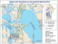 Chitek Lake Park Reserve Map Feb 2005